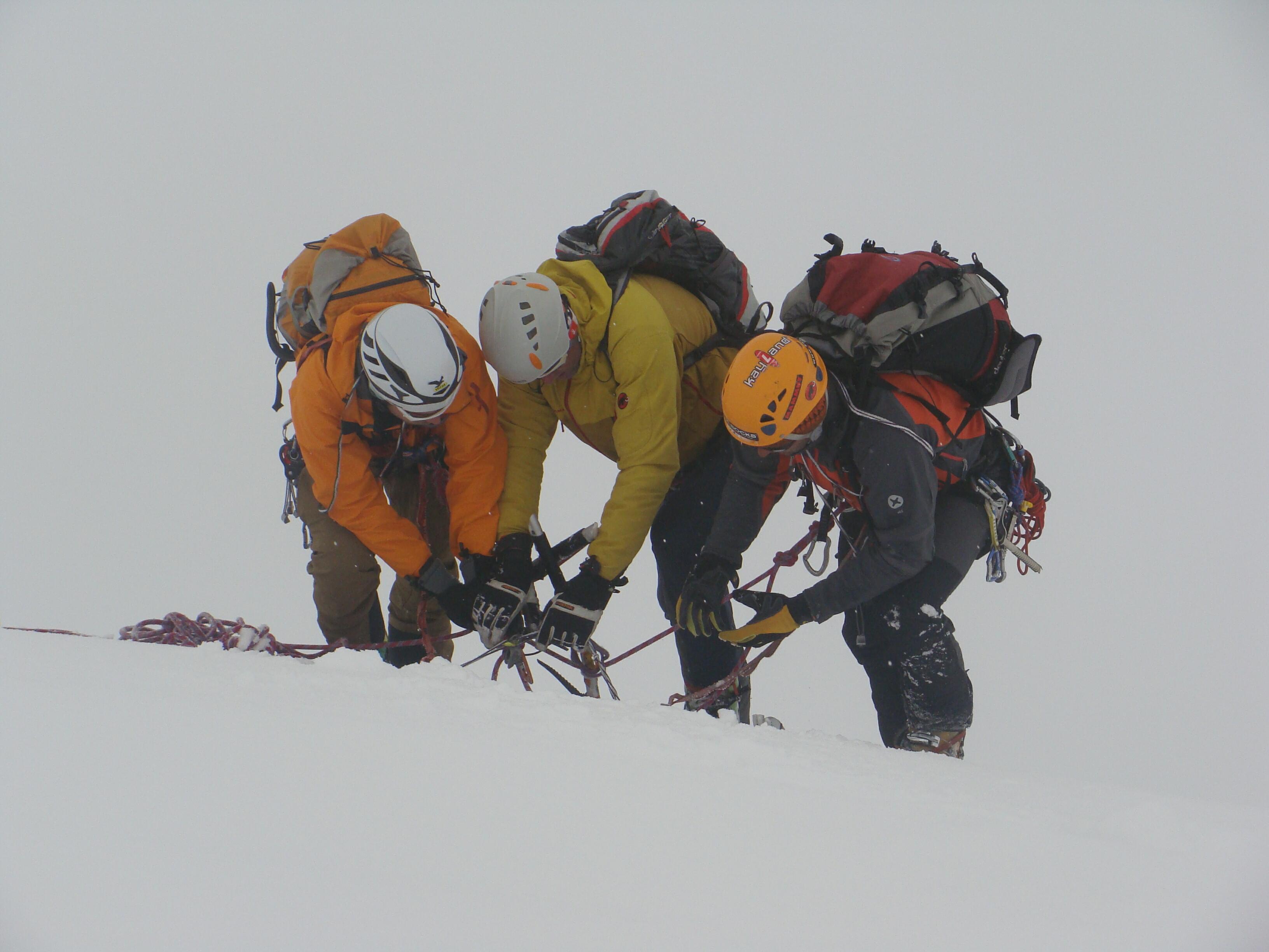štand pod vrcholom Brochkogel